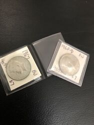 Lot Of 2 Kennedy Half Dollars Silver Coins 196768