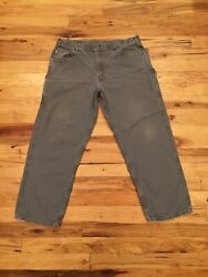 Menand039s Loose Fit Gray Work Carpenter Pants Tag 42 Actual Size 40w X 30l