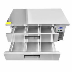 52 Refrigerated Chef Base W/ 60 Extended Stainless Steel Worktop
