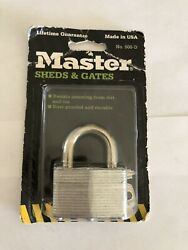 Vintage Master Lock - Sheds And Gates No. 500-d Made In Usa - New