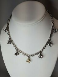 Saint By Sarah Jane 925 Sterling Silver And 18k Yellow Gold Dangle Bee Necklace