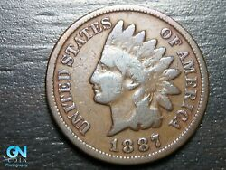 1887 Indian Head Cent Penny -- Make Us An Offer K1348
