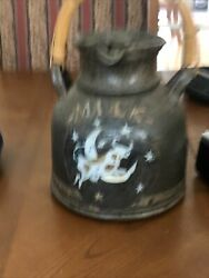 Vintage Pottery The Cow Jumped Over The Moon Milk Jug With Enamel Beautiful Gift