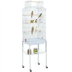 64and039and039 Play Open Top Small Parrot Parakeet Bird Cage For Cockatiel Conure W/ Stand