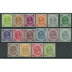 1951-52 Germany Federal Series Amount And Horn Di Mail 16 V Mnh Mf26554