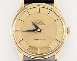 Omega Gold-plated Vintage Constellation W/ Gold Pie Pan Dial 167005
