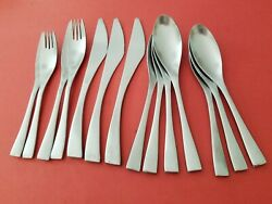 14pc Cambridge Strata Stainless Knives Dinner Salad Forks Soup Tea Spoons
