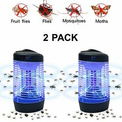 2 Pcs Lamp Fly Control Electronic Mosquito Killer Bug Zapper Insect Zappers