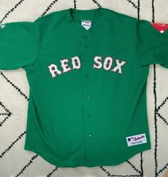 Majestic Rare Authentic Collection Green David Ortiz 34 Red Sox Jersey Xl Usa