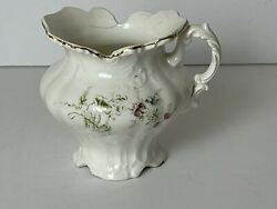 Vintage Limoge Small Porcelain Pitcher 4andrdquo Tall