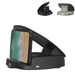 2 In 1 15w Wireless Fast Charging Car Charger Mount Holder Stand For Cell Phone