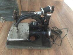Antique Wilcox And Gibbs Electric Sewing Machine