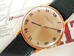 1973 18k Gold International Watch Company Gentlemanand039s Roman Dial Just Serviced