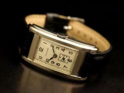 Longines Cal.25.17 Used Square Vintage Watch 1930s Ss Ec
