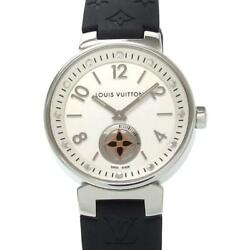 Louis Vuitton Tambour Moonstar Pm 26mm Q8j10 Used Watch Ladies Excellent Cond.