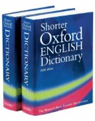 Shorter Oxford English Dictionary, 2 Volumes By William Trumble Used