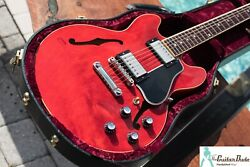 Gibson Es-339 Antique Red Finish - Ohsc And Coa - Semi-hollow Body