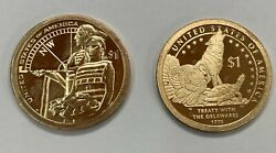 2013-s And 2014-s Proof  Native American Dollars 2 Coins