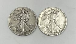 1933 S And 1934 S Walking Liberty Half Dollars Extremely Fine + 2 Coin Set