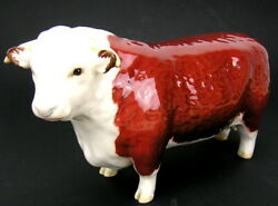 Beswick England English 8 Long Bull Cow Figurine Ch. Of Champions Hereford
