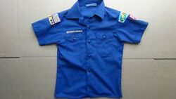 Vtg Official Boy Scout Shirt W/a Few Patches M 10-12 Navy Blue Free Shipping