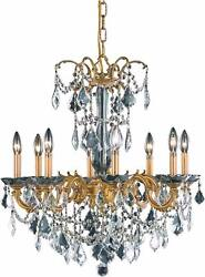 Asfour Crystal French Gold Kitchen Island Dining Room 8 Light 30 Chandelier