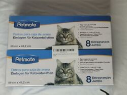 Petmate 16ct of Booda Dome Clean Step Cat Box Liners Jumbo 2 Boxes of 8 each