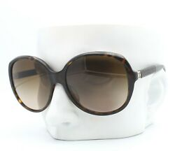 5232qa 714/3b Sunglasses Brown Tortoise Quilted Leather Temples Asian Fit