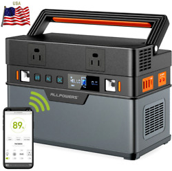 🔋⚡500wh Solar Generator 666wh/185200ma Portable Power Station Emergency Supply