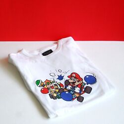 Nintendo Abercrombie And Fitch Mario Kart Bowser Balloons Size Large Graphic Tee