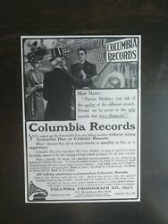 Vintage 1907 Columbia Records Columbia Phonograph Company Full Page Original Ad
