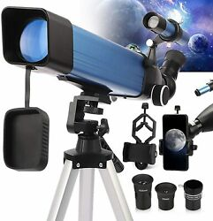 Telescope For Adults Astronomy 2021 Latest Metal Tube Refractor Telescope With 6