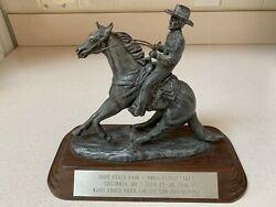 Vintage 1986 Ohio State Fair National Reining Competition Trophy Equestrian Nhra