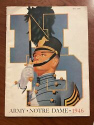 1946 Notre Dame Vs Army Program Johnny Lujack Frank Leahy Game Of The Century