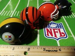 Afc Cenral Nfl Mighty Racers Mini Football Helmet Lot. Browns Bengals Steelers R