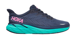 Womenand039s Hoka One One Clifton 8 Outer Space Atlantis Running Shoes Sizes 6-11