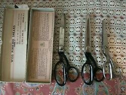 Vintage Lot 2 Wiss Pinking Shears 1 Kleencut Deluxe Lot Of 3 Dress Sew Form