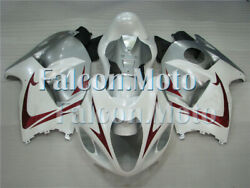 New White Red Silver Injection Plastic Fairing Fit For 1997-2007 Gsx-r 1300r Uav