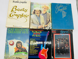 Lot Of 6 Classic Rock Music Books - Guitar, Piano, Vocal - Beatles, Eagles