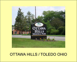 2 Side By Side Burial Plots At Ottawa Hills Memorial Park, Toledo, Oh