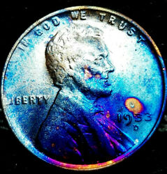 1933 D Lincoln Wheat Penny Cent- Beautiful Toning Superb Gem High Ms Grade 01