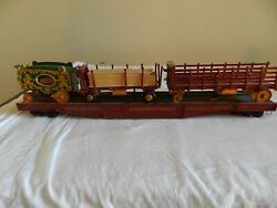 3-vintage Original Ringling Brothers/barnum Bailey Ornate Wooden Toy Train Cars