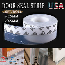 Weather Stripping Door Seal Strip Self Adhesive Silicone Bottom Draft Stopper Us