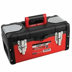 Metal Tool Box 14 Inch Small Tool Box With Removable Tray And Plastic Lid Red
