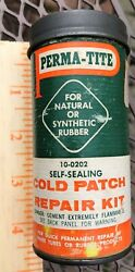 Vintage Perma - Tite Cold Patch Tire Tube Repair Kit 10-0202 Empty Cardboard Can