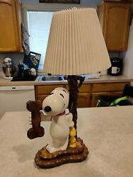 Vintage Snoopy And Woodstock Lamp In Working Condition - Very Unique And Rare