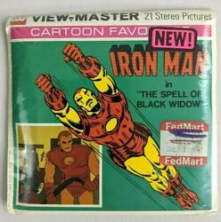 New Viewmaster Iron Man Spell Of Black Widow Sealed 1977 Reels Vtg Marvel Rare