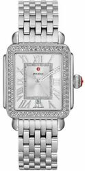 Michele Deco Madison Sunray Silver Dial And Diamond Watch Mww06t000163