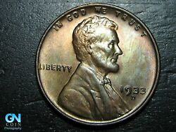 1933 D Lincoln Cent Wheat Penny -- Make Us An Offer K4805