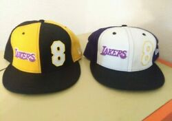 New Era Los Angeles Lakers Kobe Bryant 8 Fitted Size 7 7/8 And 7 5/8 Pre Owned